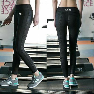 Yoga pants, Leggings Black subtle leopard print Quality (BULK 92pcs)