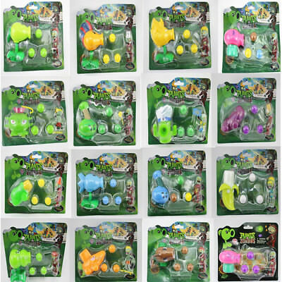 Kids Toy Doll Game Plants VS Zombies Action Figure PVZ Pea Shooter & Zombie Set