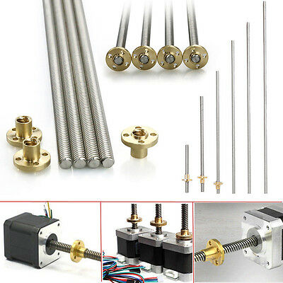 For CNC 3D printer Reprap 8mm Acme threaded Rod Stainless steel Leadscrew+T8 Nut