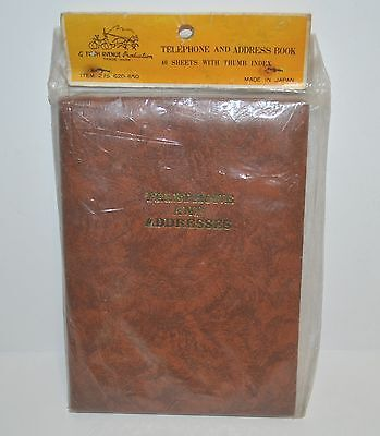Vintage Telephone and Address Book Made in Japan Brown Sealed Packet New