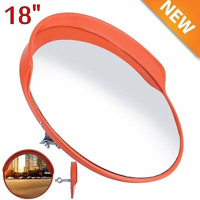 """18"""" Wide Angle Security Curved Convex Road PC Mirror Traffic Driveway Safety MY!"""