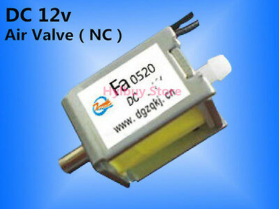 12V DC small Electric Solenoid Valve for Gas Air N/C normally closed