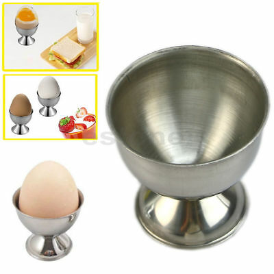 Handy Stainless Steel Soft Boiled Egg Cups Egg Holder Tabletop Cup Kitchen Tool