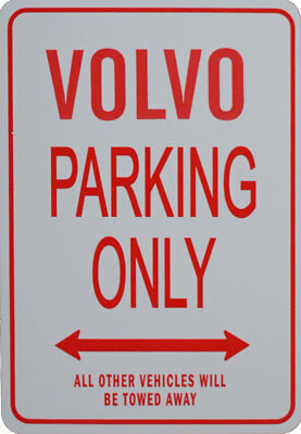 VOLVO PARKING ONLY - Miniature Fun Parking Sign