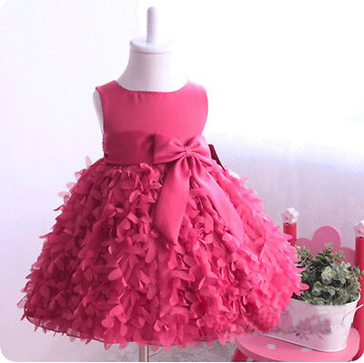 Flower Girls Princess Dress Toddler Baby Wedding Party Pageant Ball Gown Dress
