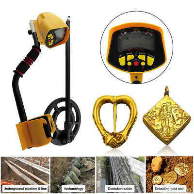 Pro Metal Detector Digger Gold Finder LCD Screen Waterproof Search Coil New