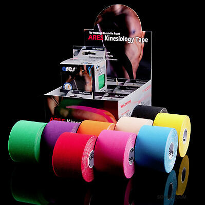 Genuine Ares Kinesiology Tape Elastic Adhesive Therapeutic Kinetic strapping 5m