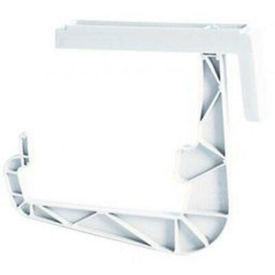 Reinforced Plastic White Rail Bracket -Balcony Flower Box Holder Bracket Hook