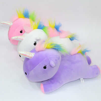 Cute Rainbow Pony Horse Pillow Festival Nursery Comfortable Gifts Toy Cotton !