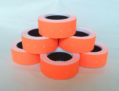 2-100 Rolls RED-ORANGE 12x21mm Price Labels for MX5500 and other single line gun