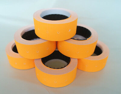 2-100 Rolls ORANGE 12x21mm Price Labels for MX5500 and other single line guns