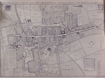 Guildford (Guldeford) 1739 High Street Map, Ground Plan.