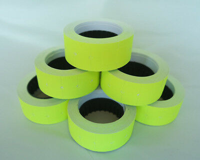 2-100 Rolls YELLOW 12x21mm Price Labels for MX5500 and other single line guns