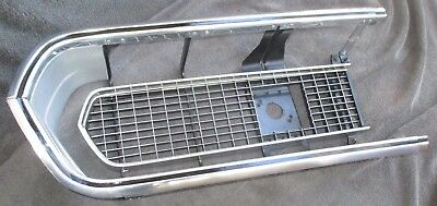 BARRACUDA GRILL LH 67 - VERY NICE POLISHED cuda grille HEADLIGHT 68 hemi 1967