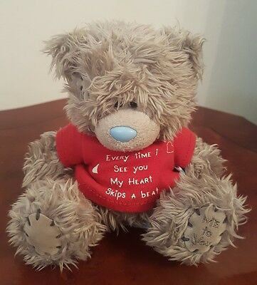 """5""""  Me to you  Every Time I see you my heart skips a beat Tatty Teddy Bear #TT45"""