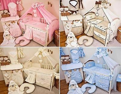 Complete 21 Piece Baby Nursery Bedding Set Fits Cot / Cot Bed - Sleeping Bear