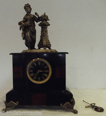pendulum cartel napoleon III marble e and the lamb JAPY Brother med of honour