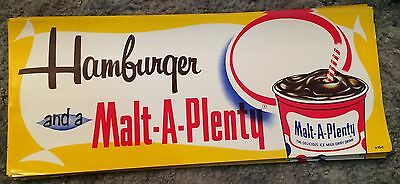 NOS Malt A Plenty Hamburger  Advertising Poster