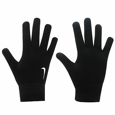 New Nike Black Knitted Adults Men Gloves  Football Running Sports Warm Winter