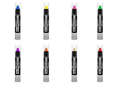 PAINT GLOW In The Dark Neon UV Reactive Luminous Face Body Make Up Party Stick