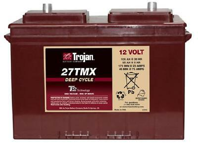 12v 105AH Trojan 27TMX Ultra Deep Cycle Boat /  Leisure Battery