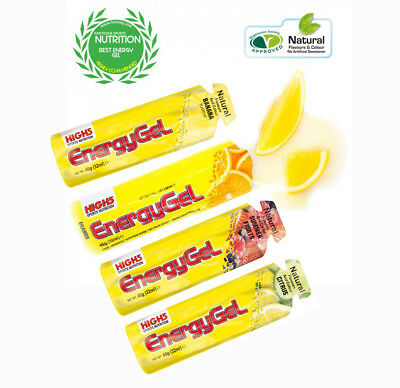 High 5 Sports Nutrition Energy Gels. 4 Different Flavours Taster Pack. 4 x 40gm