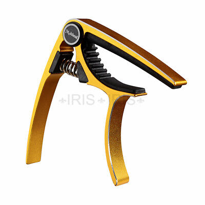 Aluminium Quick Trigger Release Capo for Acoustic & Electric Guitar Golden