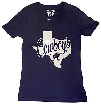 Dallas Cowboys Women's Navy Emilie V-Neck T-shirt