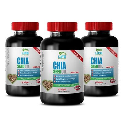 Black Chia Seeds - Chia Seed Oil 2000mg - Immune System Recovery 3B