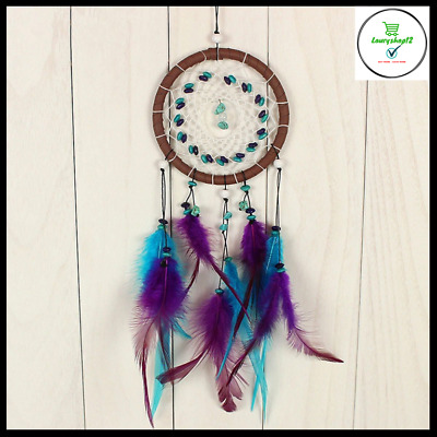 Hanging Dream Catcher Decor Wall Ornament Gift Feather Leather Decoration 43cm