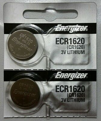 NEW 2x Energizer ECR1620 Lithium Batteries, 3V Coin / Button 2-Pack