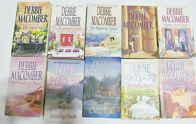 Lot Of 10 Debbie Macomber Paperbacks One Night Wyoming Brides Navy Woman ++