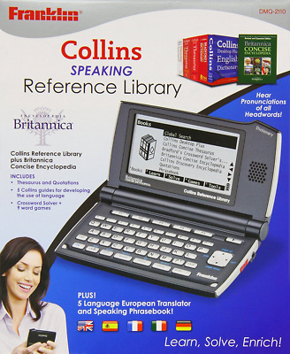 Franklin Collins Reference Library & 5 Language Speaking Translator Phrasebook