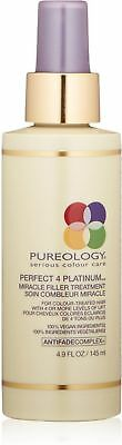 Pureology Perfect 4 Platinum Miracle Filler Treatment 4.9 oz (Pack of 4)