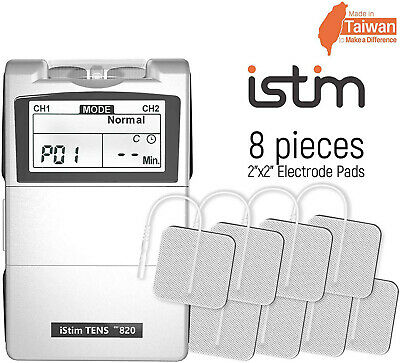 FDA Clear Istim EV-820 2 Channel Tens unit Machine Muscle Pain relief Management