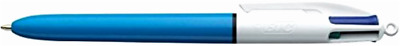 New BIC 4-Color Ballpoint Retractable Pen, Assorted Ink, Medium, Pack of 12