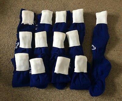 Men's royal with white turnover, pack of 15 pairs football socks