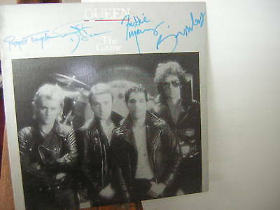 Queen Signed Lp The Game Freddie Mercury Brain May 1980