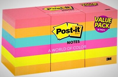 1800-SHEET Post-it Notes 1.5x2 Pack Lot Sticky Pad Assorted Colors Yellow 3M
