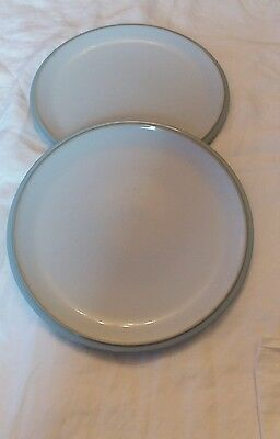 Denby Everyday cool blue dinner plates 10.5 Inches x 2