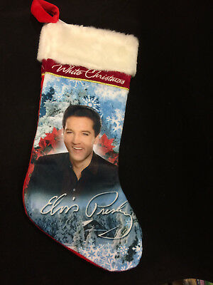 Elvis Presley Smiling Blue  Christmas Stocking Tree Hanging The King NEW