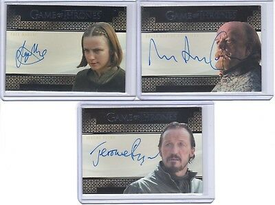 2017 Game of Thrones Valyrian Steel Faye Marsay as The Waif Autograph Auto