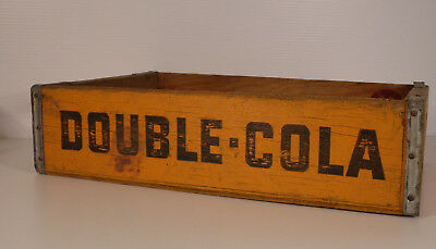 4 Vintage Wooden Double Cola Soda Crate 70s Retro Trug Box Tulsa Ok 1