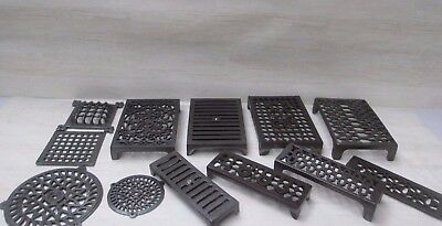 Cast Iron Vintage Repro Rustic Old Victorian  Air Vent Air Brick Grille Cover