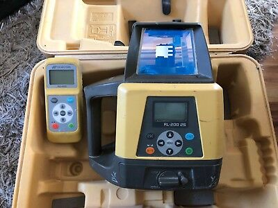 Topcon RL-200 2S Rotary Laser With RC-400 Remote Control