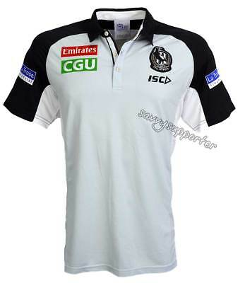 Collingwood Magpies 2018 AFL Cool Grey Polo Shirt Sizes S-5XL BNWT