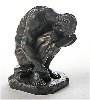 Crouching Man Male Nude Figure by Bartlett Museum Collectible BART01 Parastone