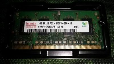ツ ✎ Hynix 2GB (2 x 1GB) 1RX8 PC2-6400S DDR2 SODIMM RAM LAPTOP MEMORY