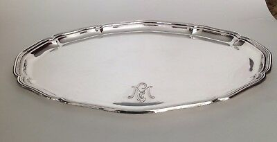 German 830 Silver Scalloped Edge Serving Tray by Gebruder Deyhle of Gmund
