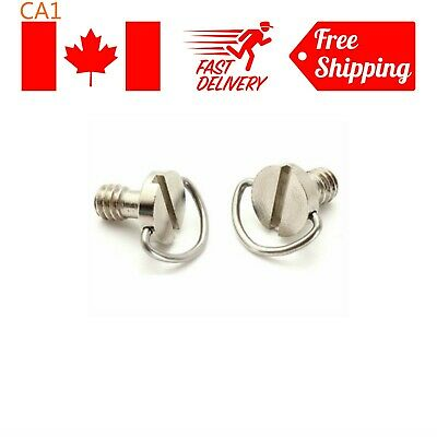 "2Pcs 1/4"" D-Ring 20mm Head Camera Screw Bolt fr Tripod Quick Release Plate"